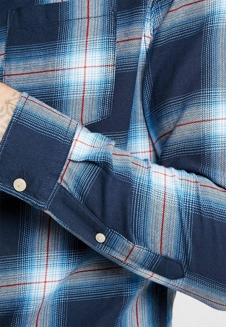 Azul Camisa Jack Hombre Algodón amp; Jones XxXAgaSw