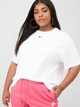 Nike Plus Size - Sportswear Essential Women's Short-Sleeve Top - White