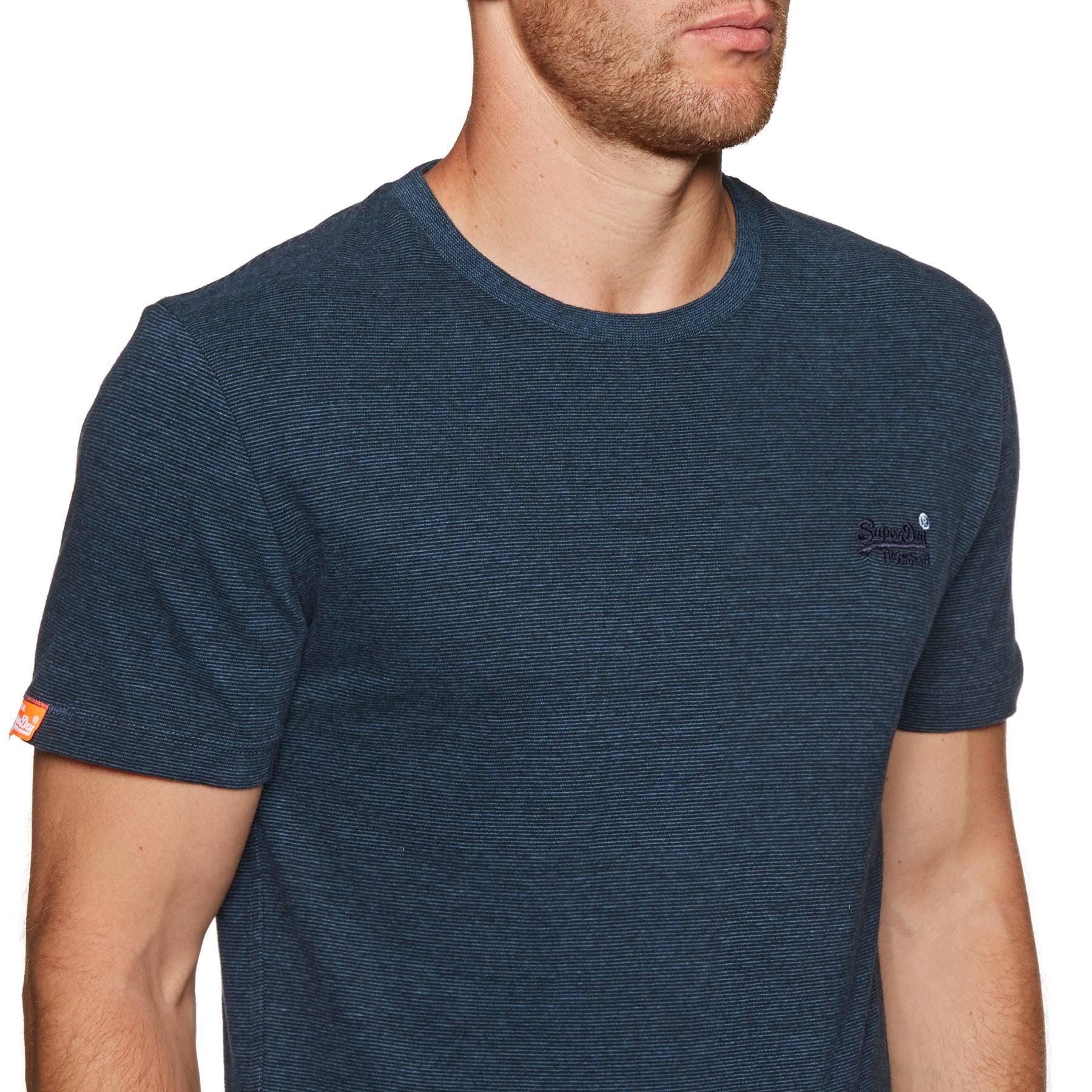 Größe Stickerei shirt Grau Orange T S Herren Superdry Label Vintage PFFgv