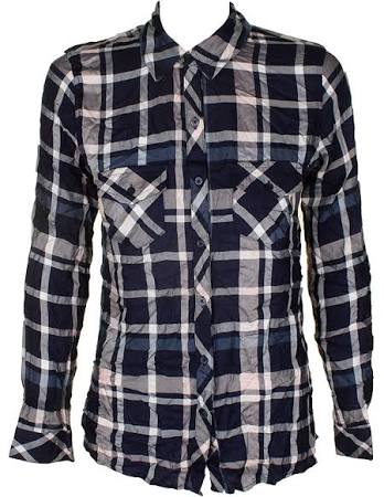El A En Camisa Jules Maison Azul Cuadros Bolsillo S Con Marino Botones Rosa nYwOfnx05