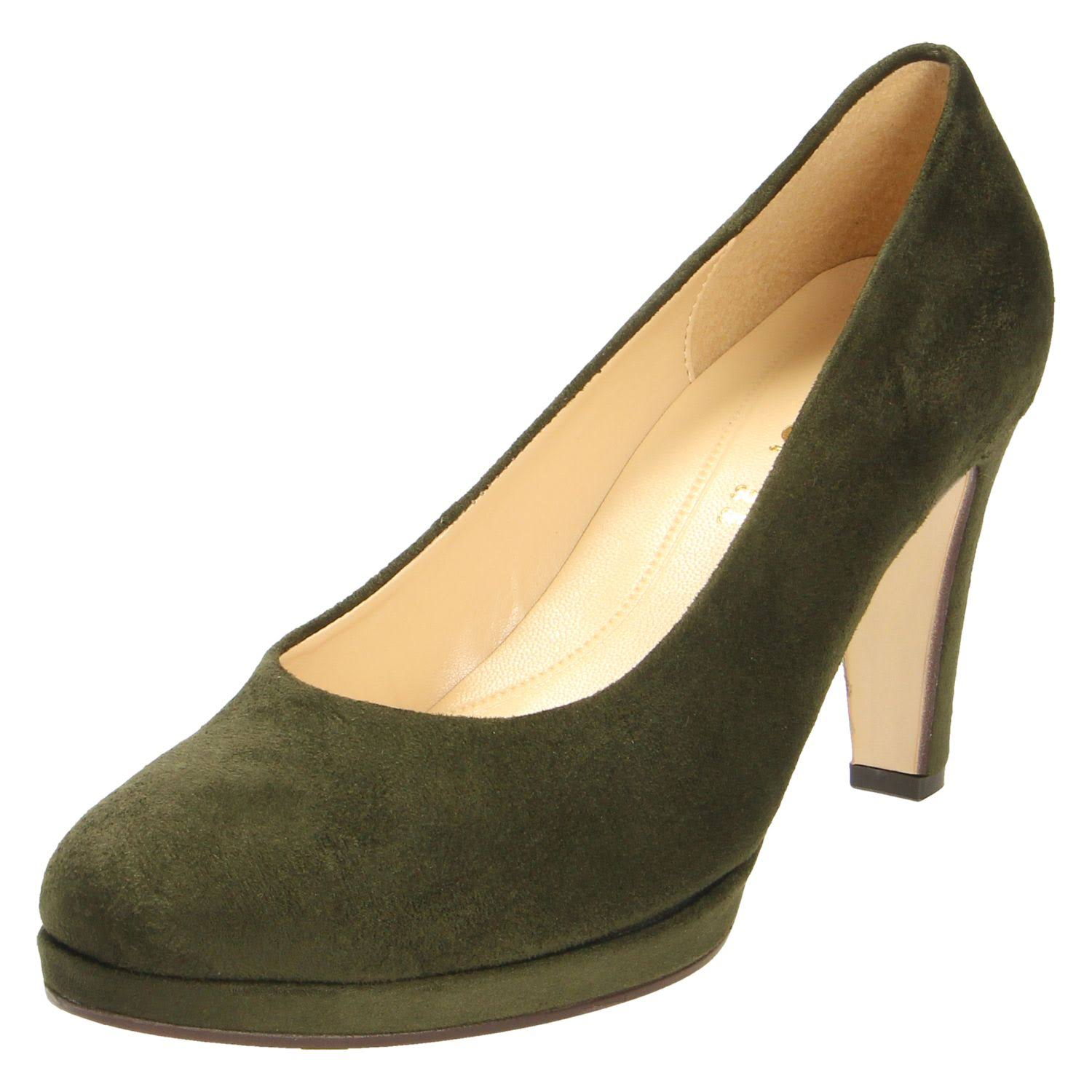 4 Heels Women Leather 5 Gabor Green qpSMzVU