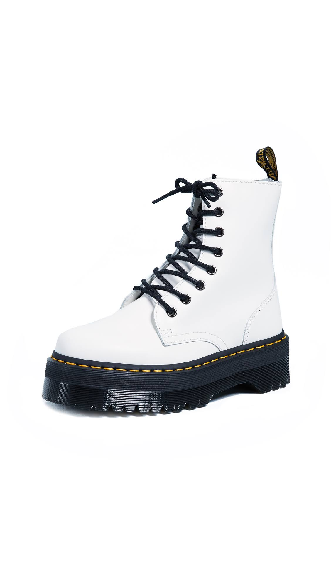 Jadon Martens Liscio Dr White Lucidato Boots nwvyPmON80