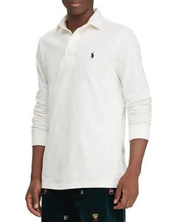 Hombre Polo Camiseta Lauren Para Larga Ralph Blanco Rugby De Xxl Manga Tamaño fqfw8nEUx