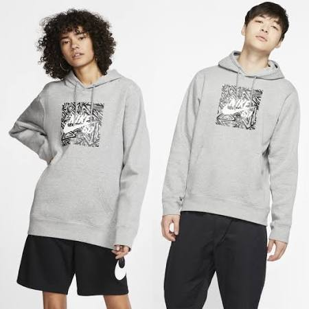 Nike SB Men's Graphic Skate Hoodie - Grey