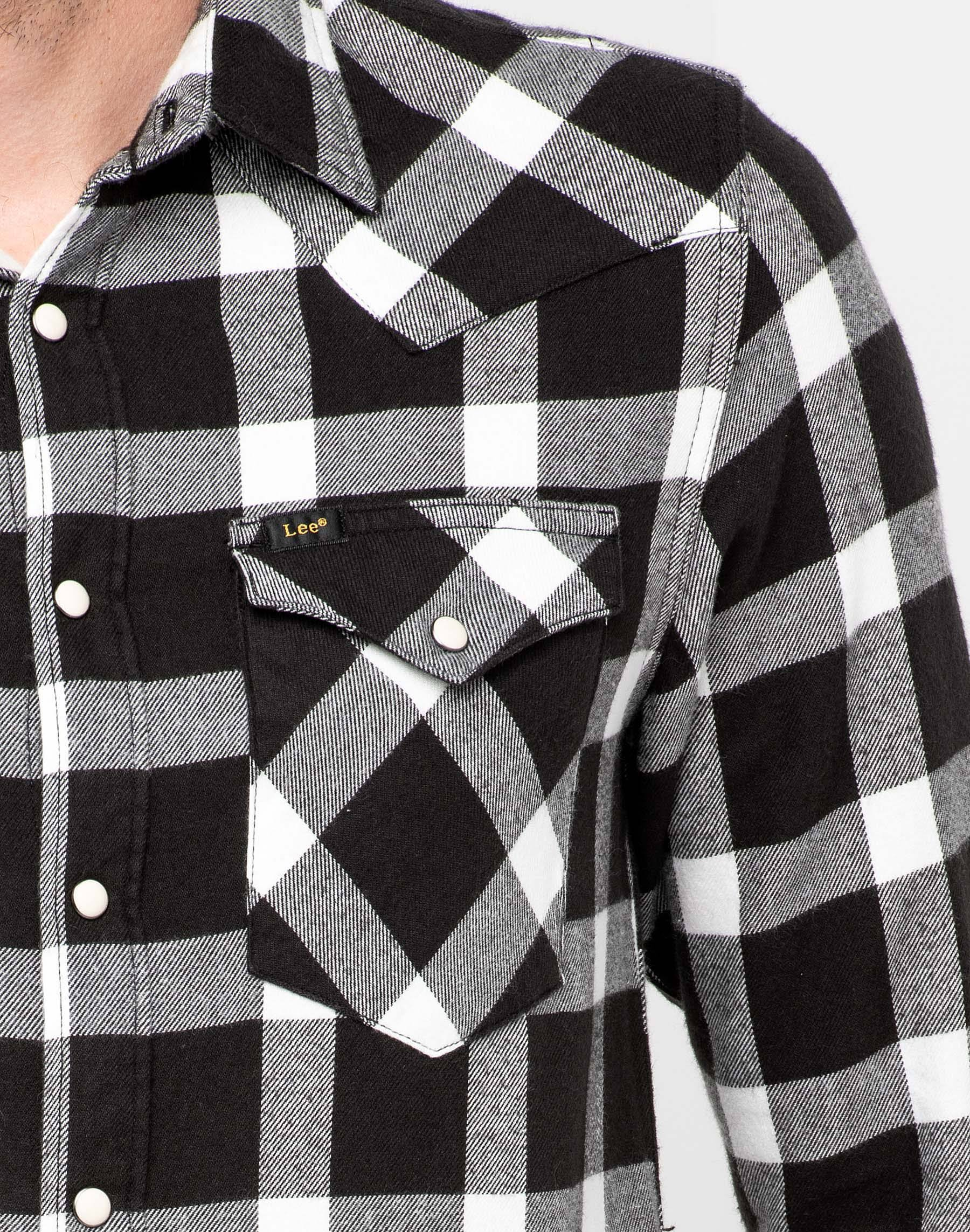 Negro Hombre Shirt Western Lee Talla S Pitch TqIz1wnU