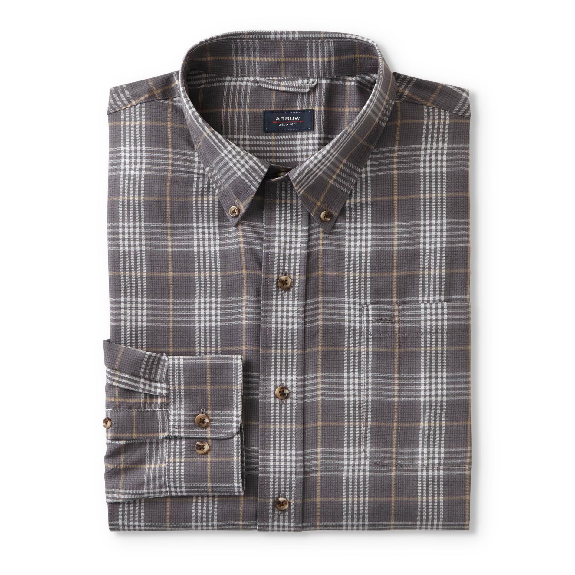 Castlerock Arrow kleid Größe plaid Medium Langarm Shirt Herren 0vq0BwZ