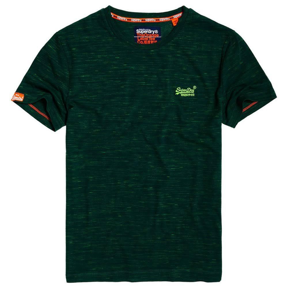 Vintage Label Stickerei Herren T Grün shirt M Größe Superdry Orange wE7tqnII