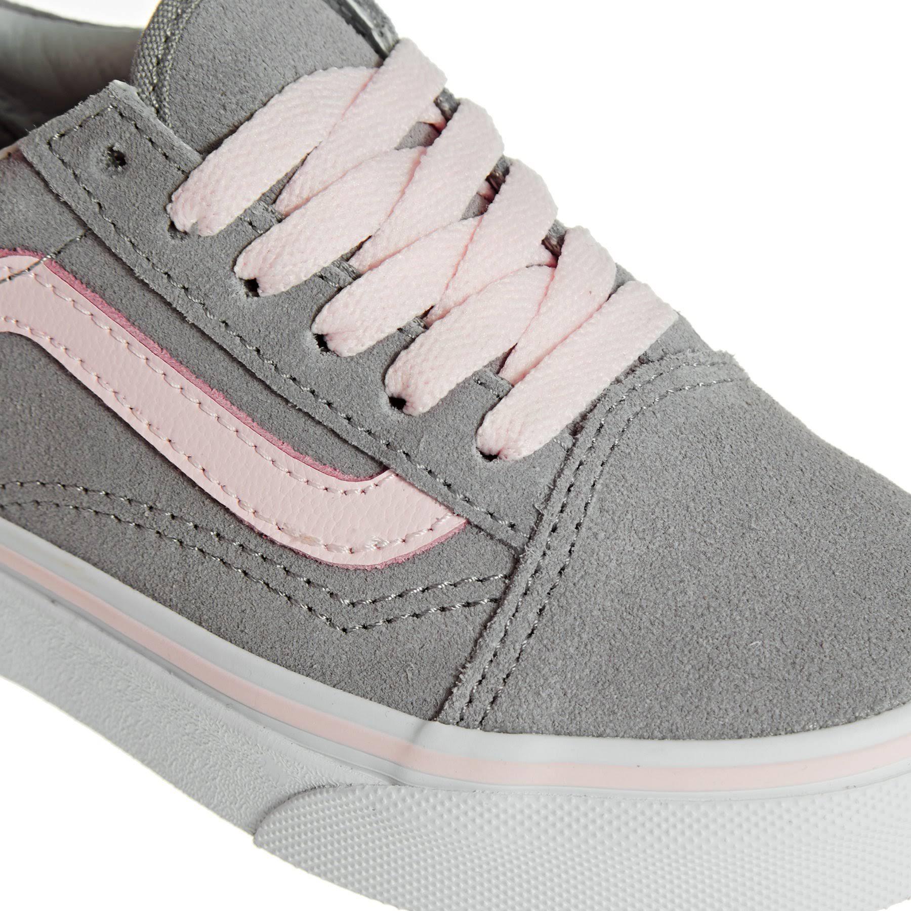 Trainers Vans Kids And Skool Old Pink Grey Suede qw07Hqr