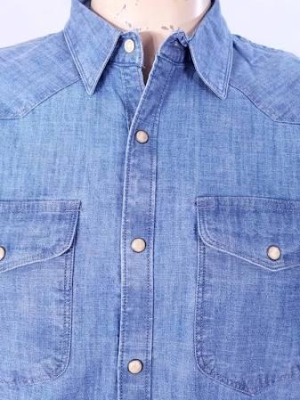 Hemd Taschen Blau Mit Brand Med Lucky Chambray Zwei YXn6ExwZS