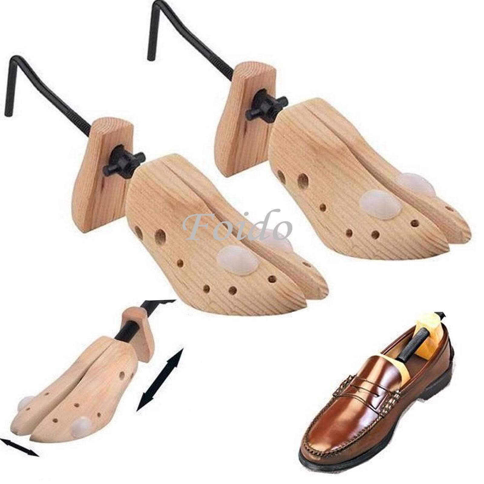 2 x Mens Gents Shoe Stretchers Tree Wooden Shaper Bunion Corn Blister Size 6-12