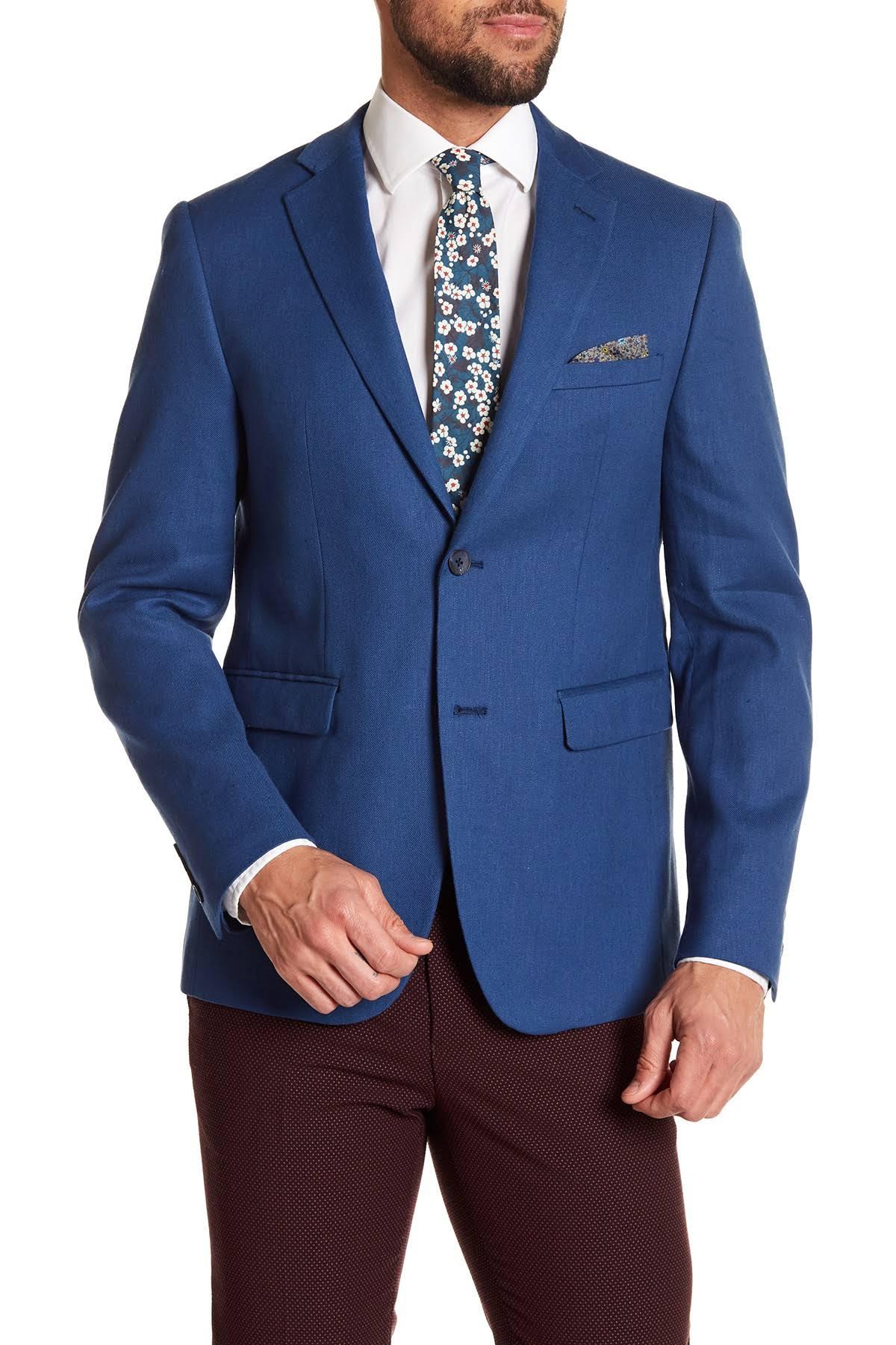 Original Azul Sólido Penguin Para Hombre Slim De Blazer Fit PqAf4vwc7
