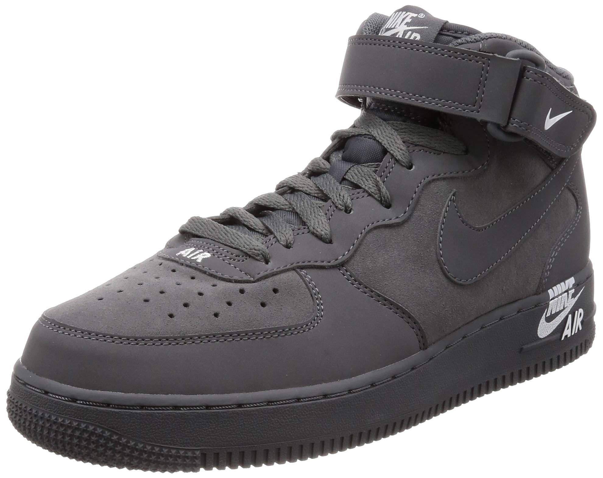 Nike Air 07 Mid 1 12 Schoenmaat Donkergrijswit Force Heren Grey CdtxhrsQ