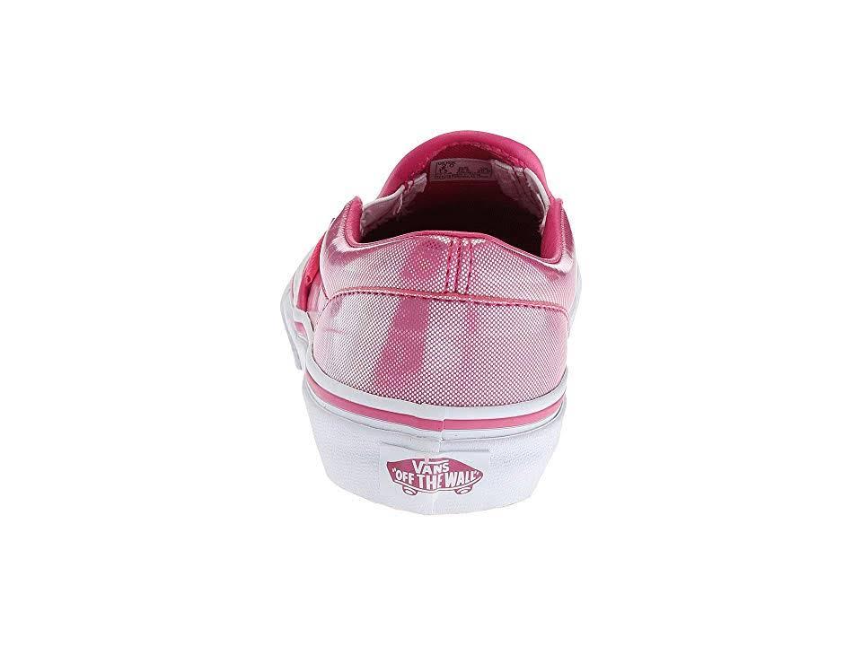 Kids big Kid M Slip School Pink true Magenta little Classic Big Shoes Girls Kid Hearts on Kid Vans White 4 holo dYfx0pd