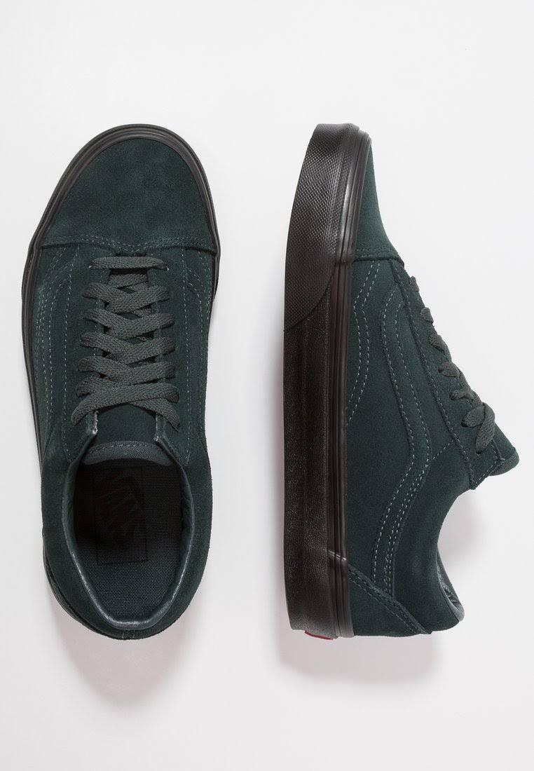 Außensohle Schwarz Black Größe 5 Skool schwarze Schwarz Vans Darkest Wildleder Outsole Grün Schuhe 8 Fichte Herren Grün Old qwW0a5f
