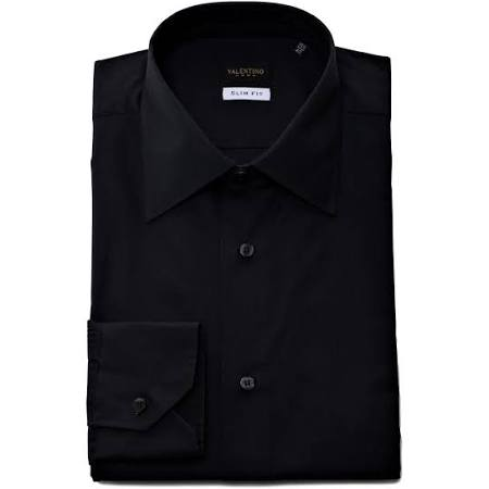 De Negro Valentino Camisa Corte 7vy80l01 Slim Para Roma Vestir Hombre g4wzRwdq