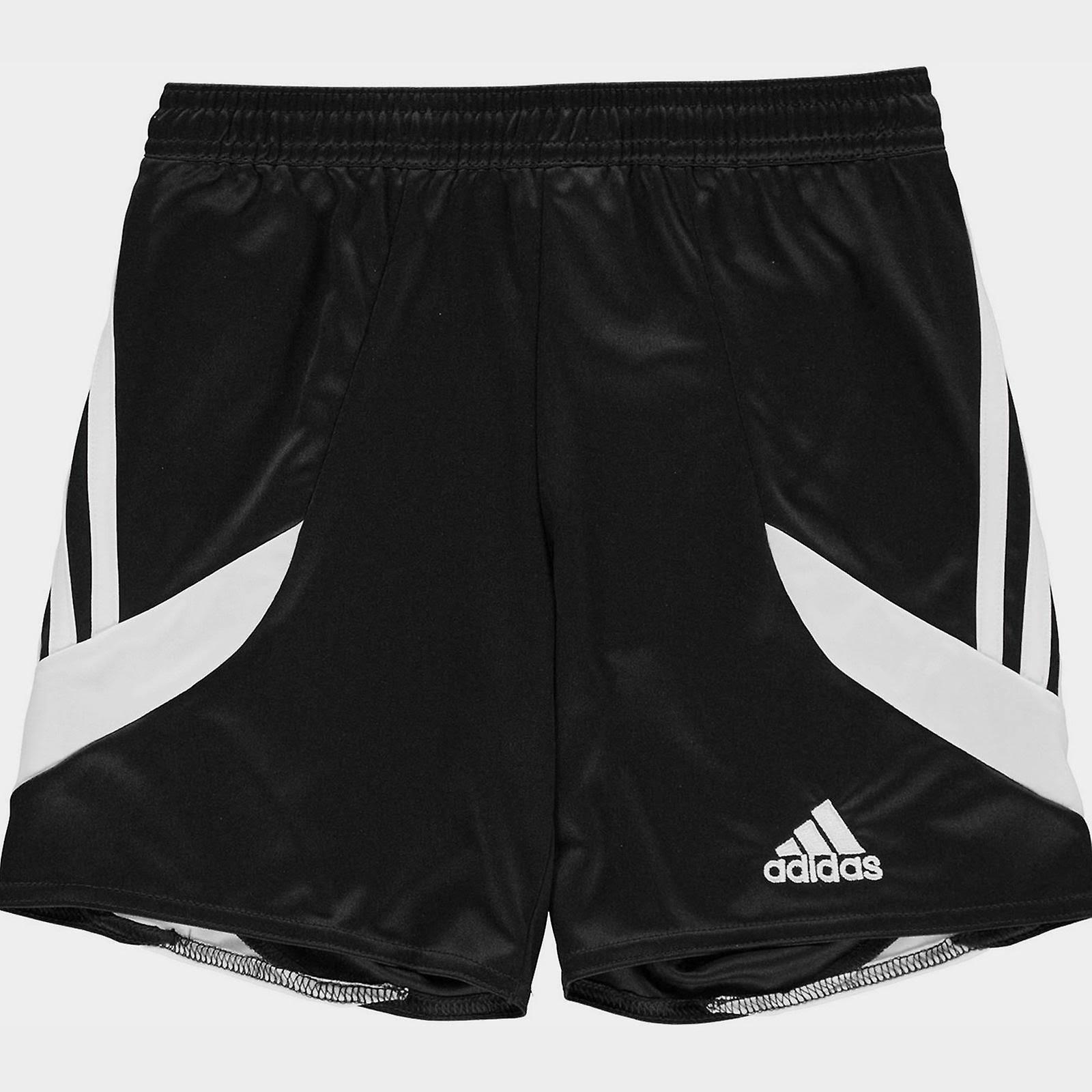 Adidas 3 Stripe Shorts Junior Boys - Black/White  hWfggWN