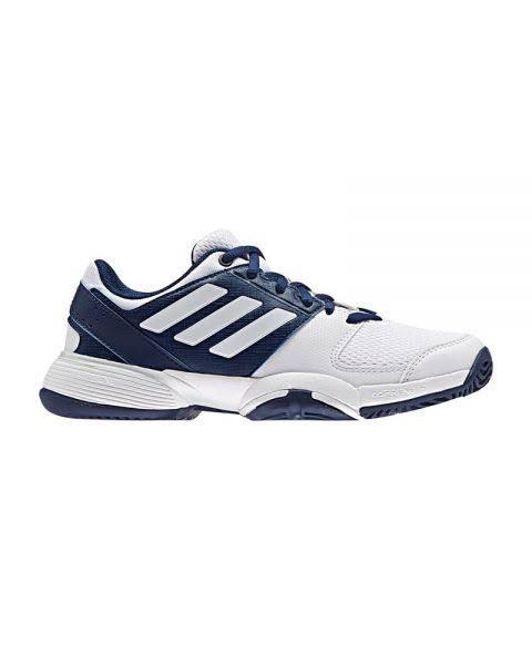 Padel Shoes Adidas Junior Barricade Club Xj White Navy Blue