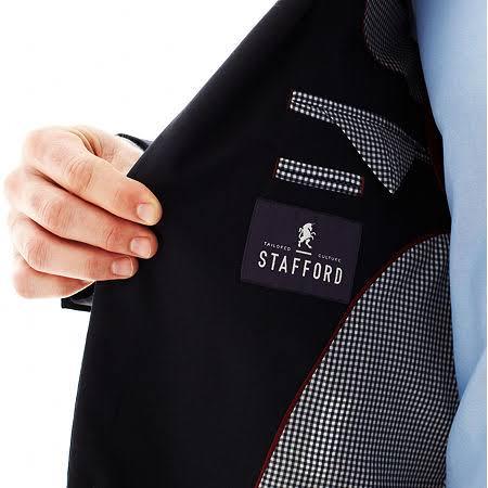 Executive Stafford Classic Regular 40 Black Black Men's Hopsack Size Blazer P6wdUw