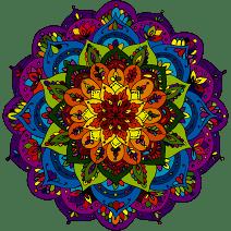 "Pretty Rainbow Mandala Flower Vinyl Decal Sticker (12"" Wide)"