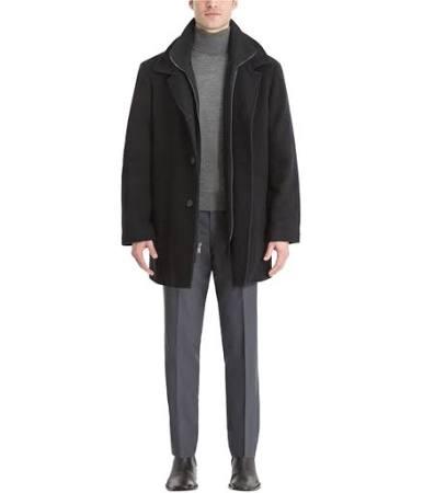 Calvin Coleman Lana De Hombre Vestido Negro Klein Para Abrigo ZSnwq7Zrx