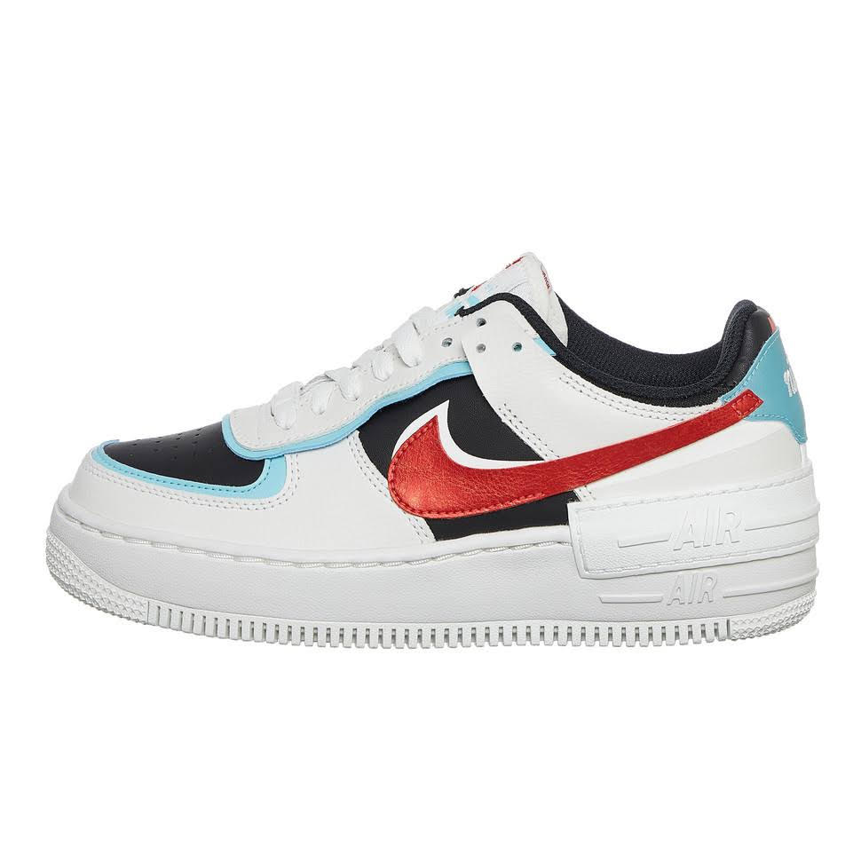 Nike Wmns Air Force 1 Shadow (White / Turquoise / Red)