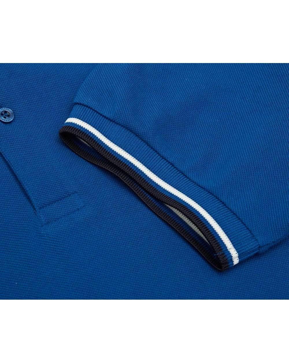 corte Polo maniche blu punta PerryMens doppia con di a Fred 9IeWE2YDH