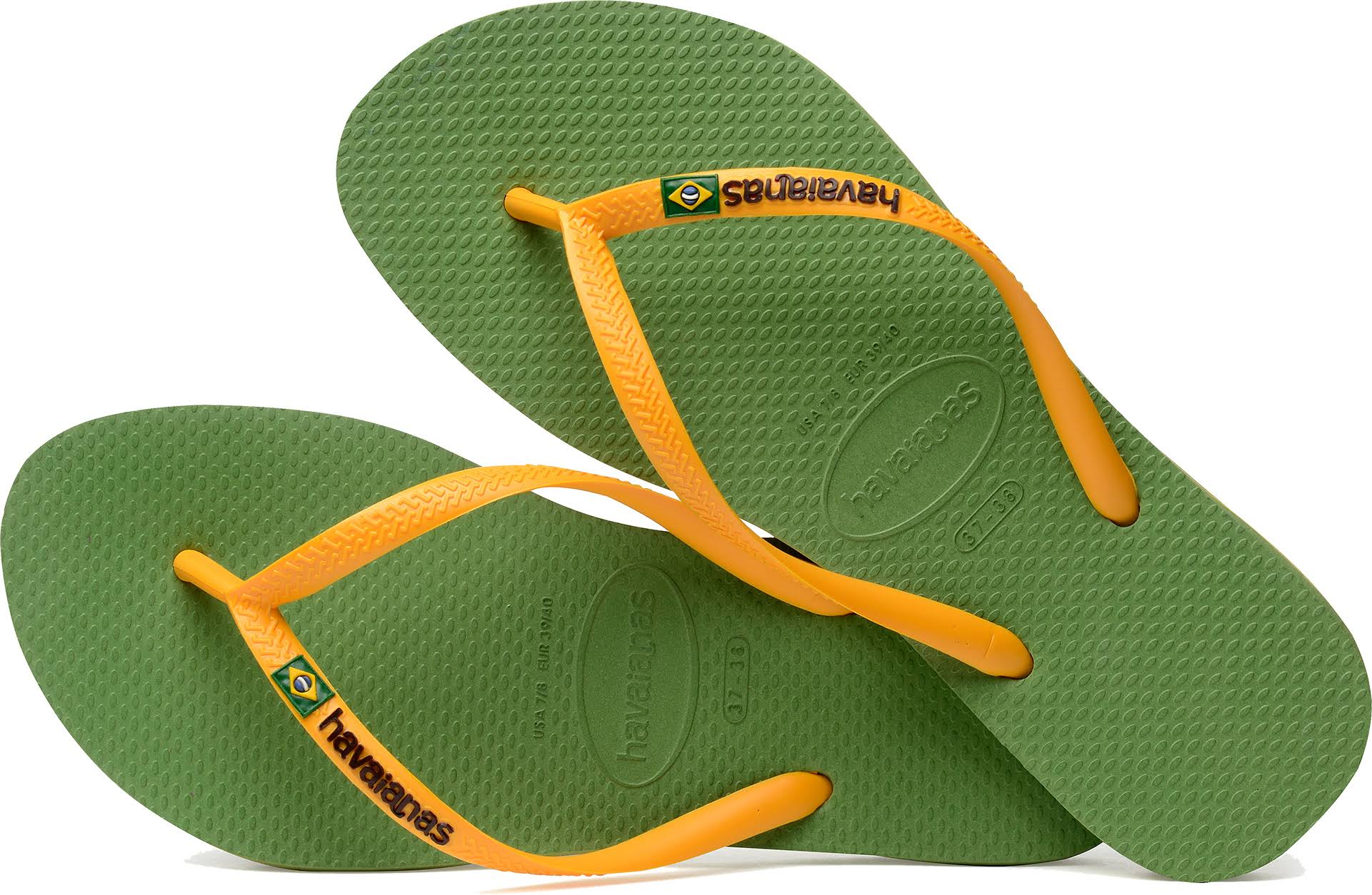 Beach Green green Sandals In Slim 38 Size Green Size Havaianas Logo Bamboo ESBqf4
