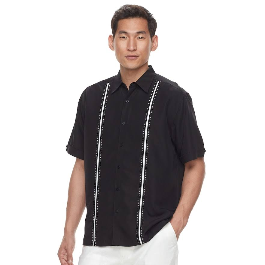 Classic Botones Oxford fit Tamaño Pequeño Havanera Con Y Hombre Para Camisa aZwqBI6B
