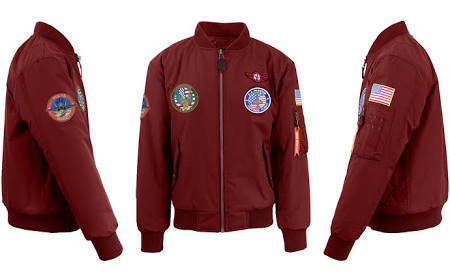X maroon Pesado Rojo Parches Spire By Bomber Poliéster W Galaxy Peso Hombre Para Maillot Chaqueta De PWpRvZWYS