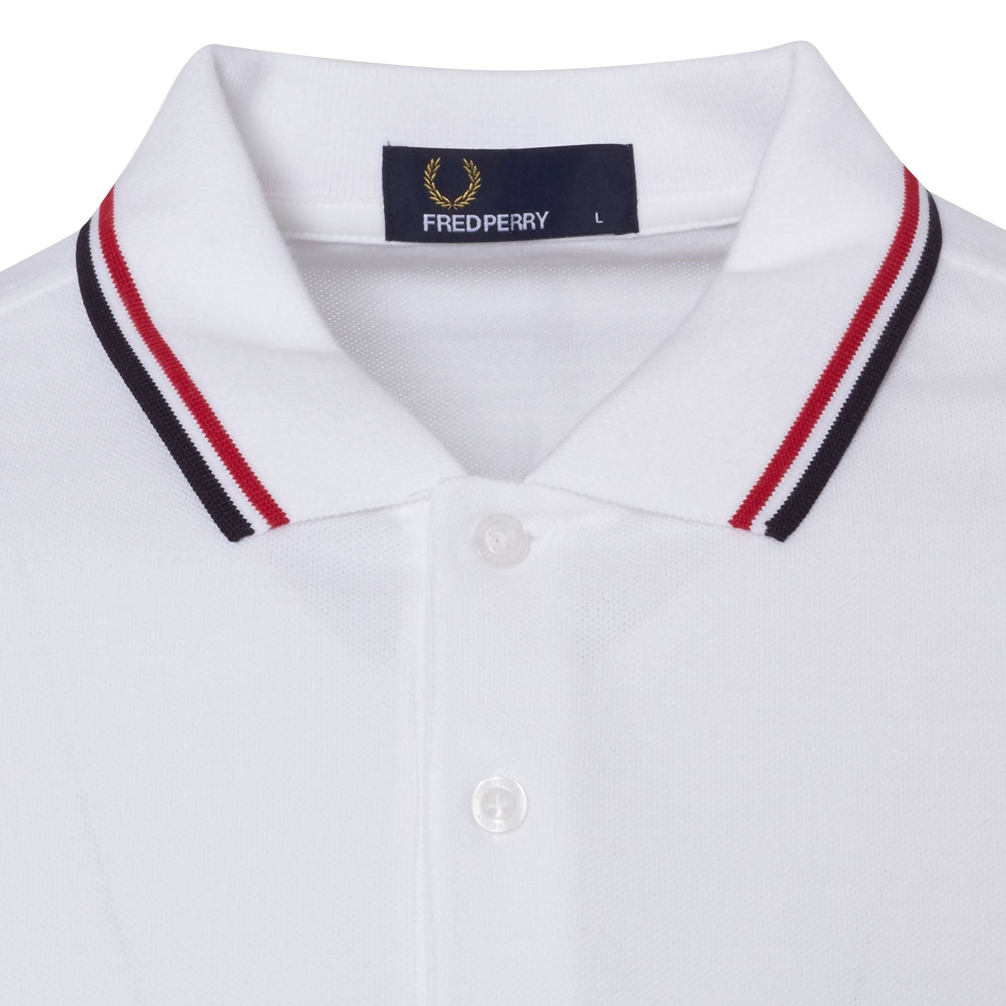 Polo T Wit Twin Fred Perry Tipped shirt vn0wymN8O
