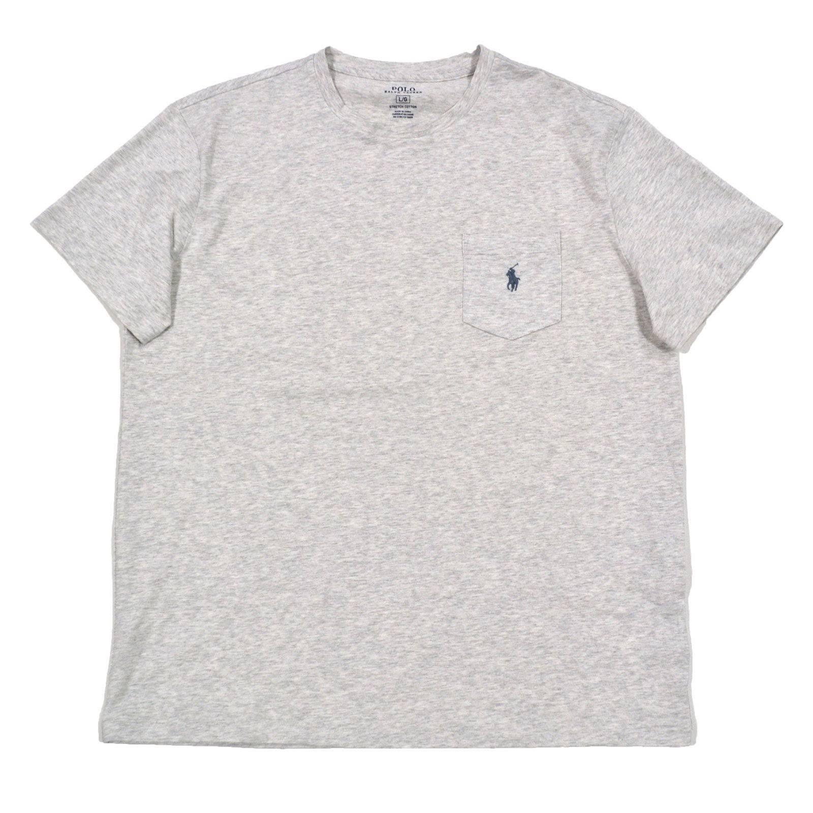 Polo De Algodón Lauren Bolsillo Camiseta Para Regular Elástico Ralph Hombre rqvWBtr
