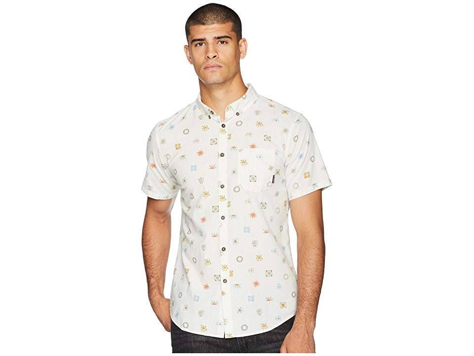 Billabong Stone Gedrucktes Shirt Sonntags Herren S Beige Tan Pocket 1BOr1Aq