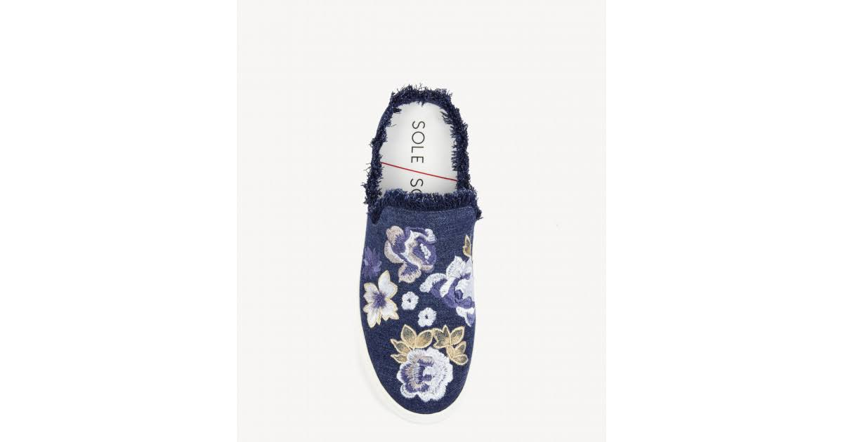 5 Belynda Piel Society Para Mules Zapatillas De 5 Mujer Pelo Talla Multi Azul Sole 8OdCz