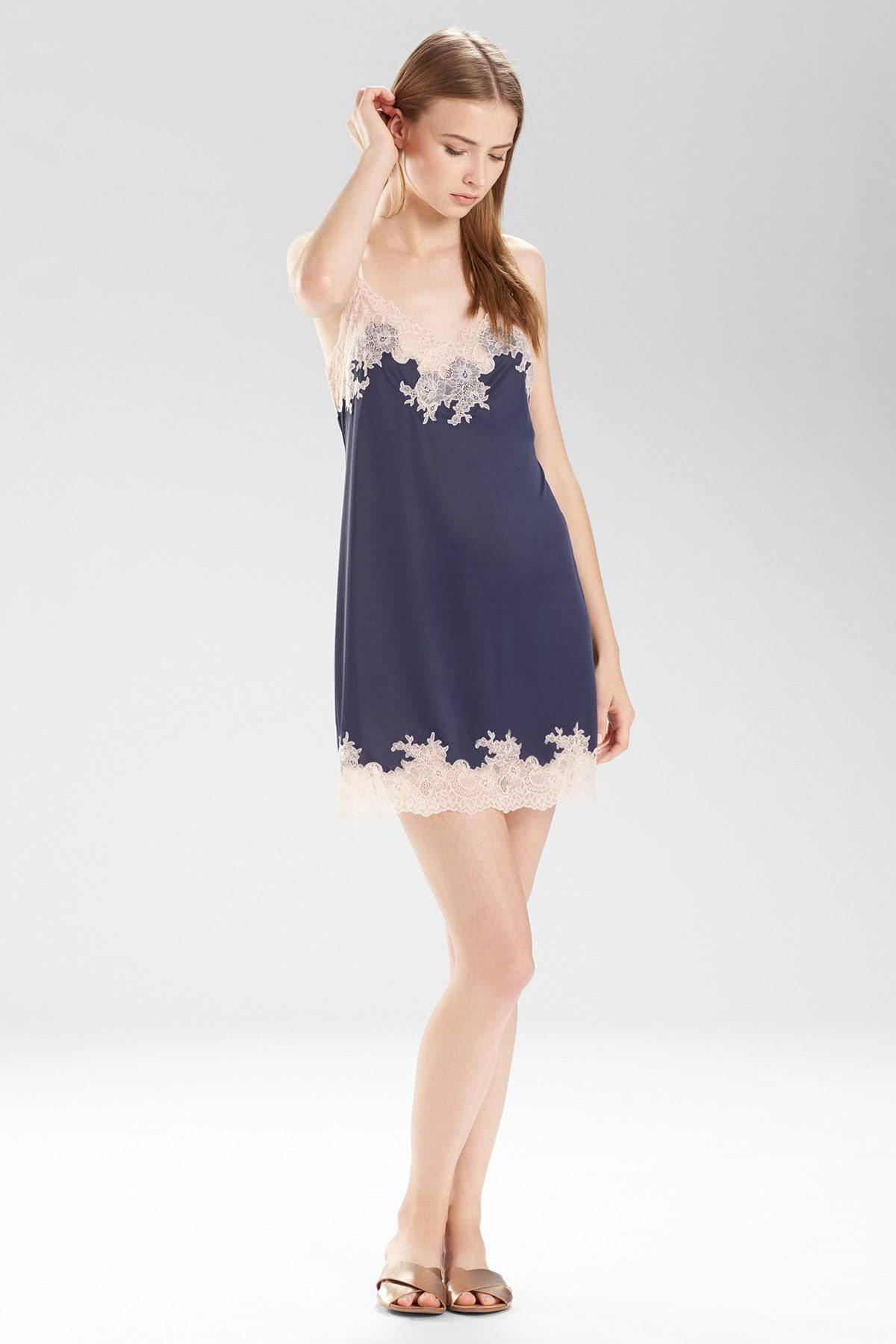 Natori Ribete Con De Encaje Azul Noche Xs Rosa Chemise Mujeres Múltiple Enchant HUqrxw6HT