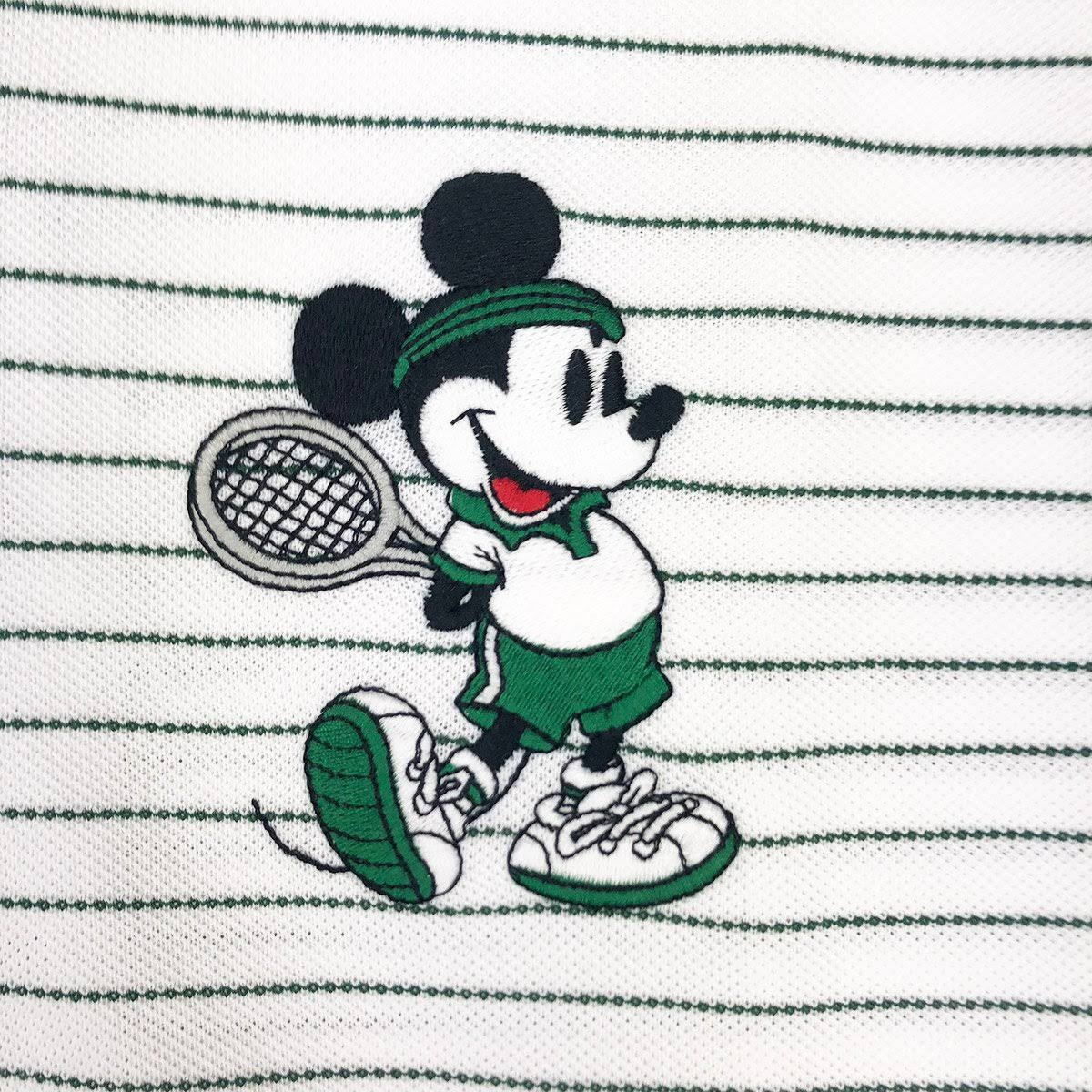 Gestreiftes Disney Lacoste Weiß Herren M Mouse Mickey Polo PBPHqCw