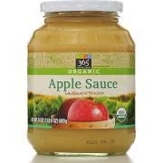 365 Organic Apple Sauce, Unsweetened - 24 oz jar