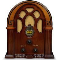 Crosley Companion AM/FM Radio & Bluetooth Speaker, Brown