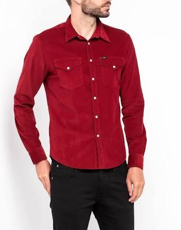 Hombre Shirt M Ruibarbo Rhubarbred Rojo Western Talla Lee qSOARx