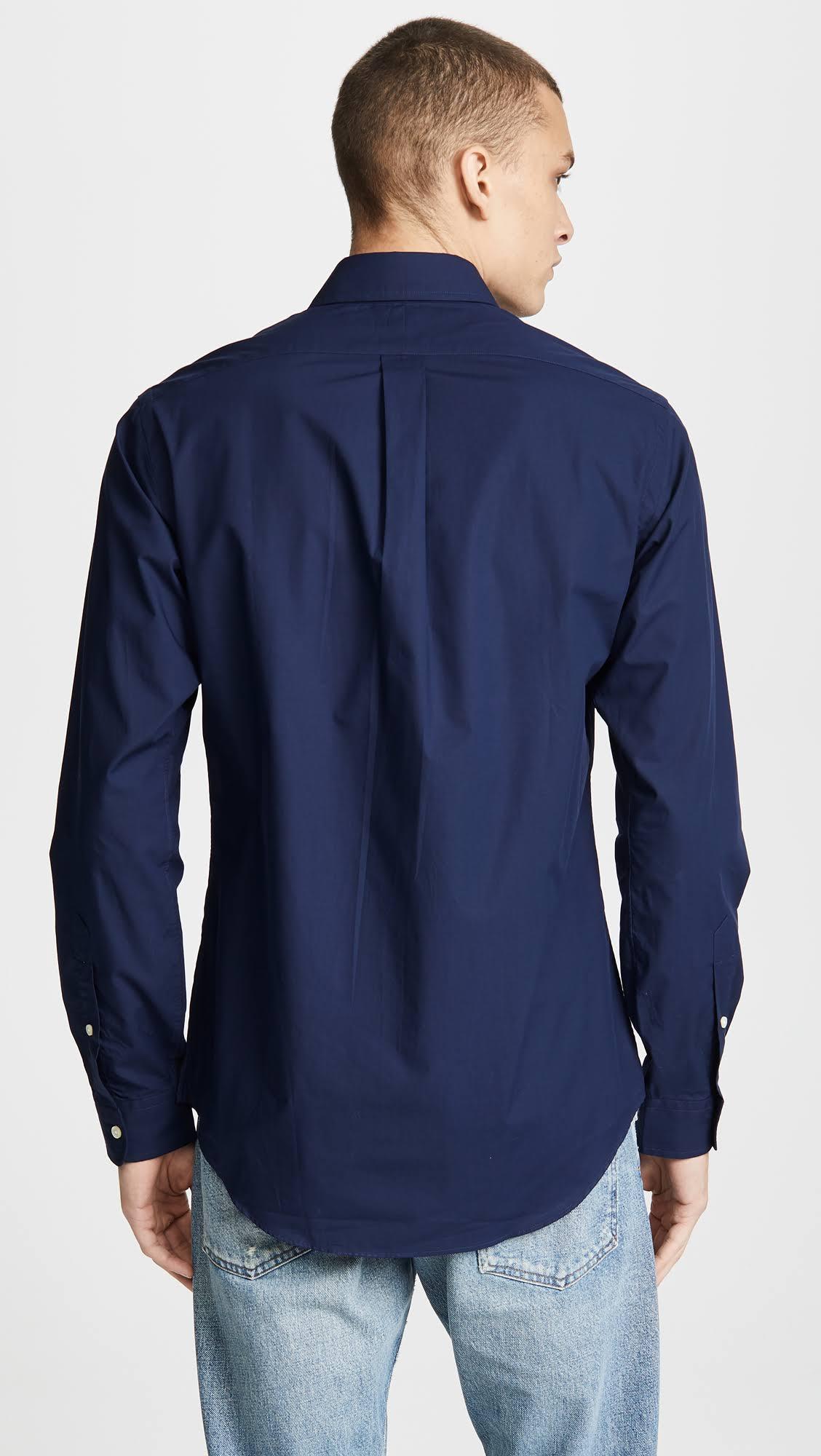En Camisa Slim De Fit Newport Lauren Navy Popelina S Talla Ralph npnxH7w