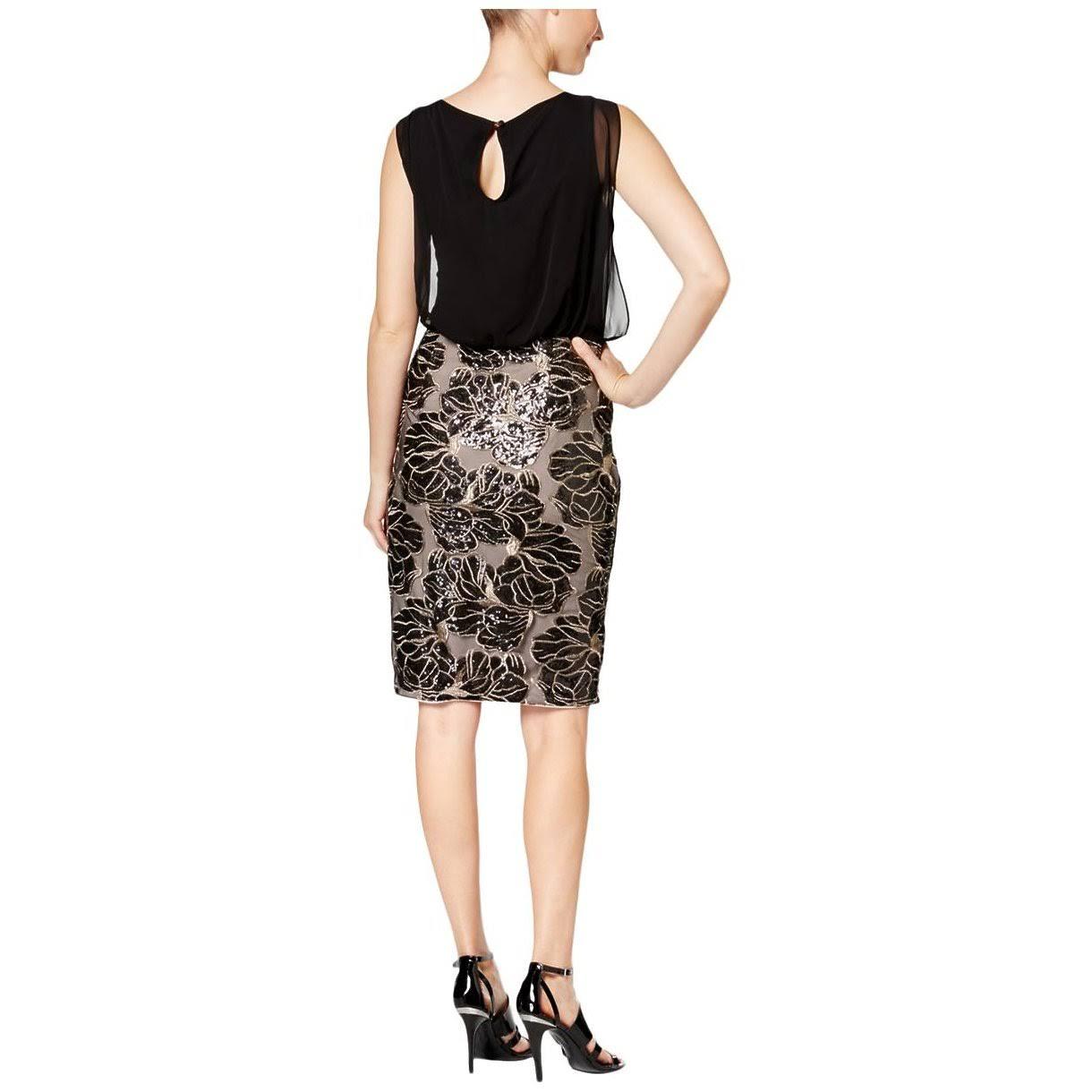 Con Lentejuelas Para Calvin Cd6bdv3y Casual Vestido De Klein Mujer Gasa UqC7TaSxw