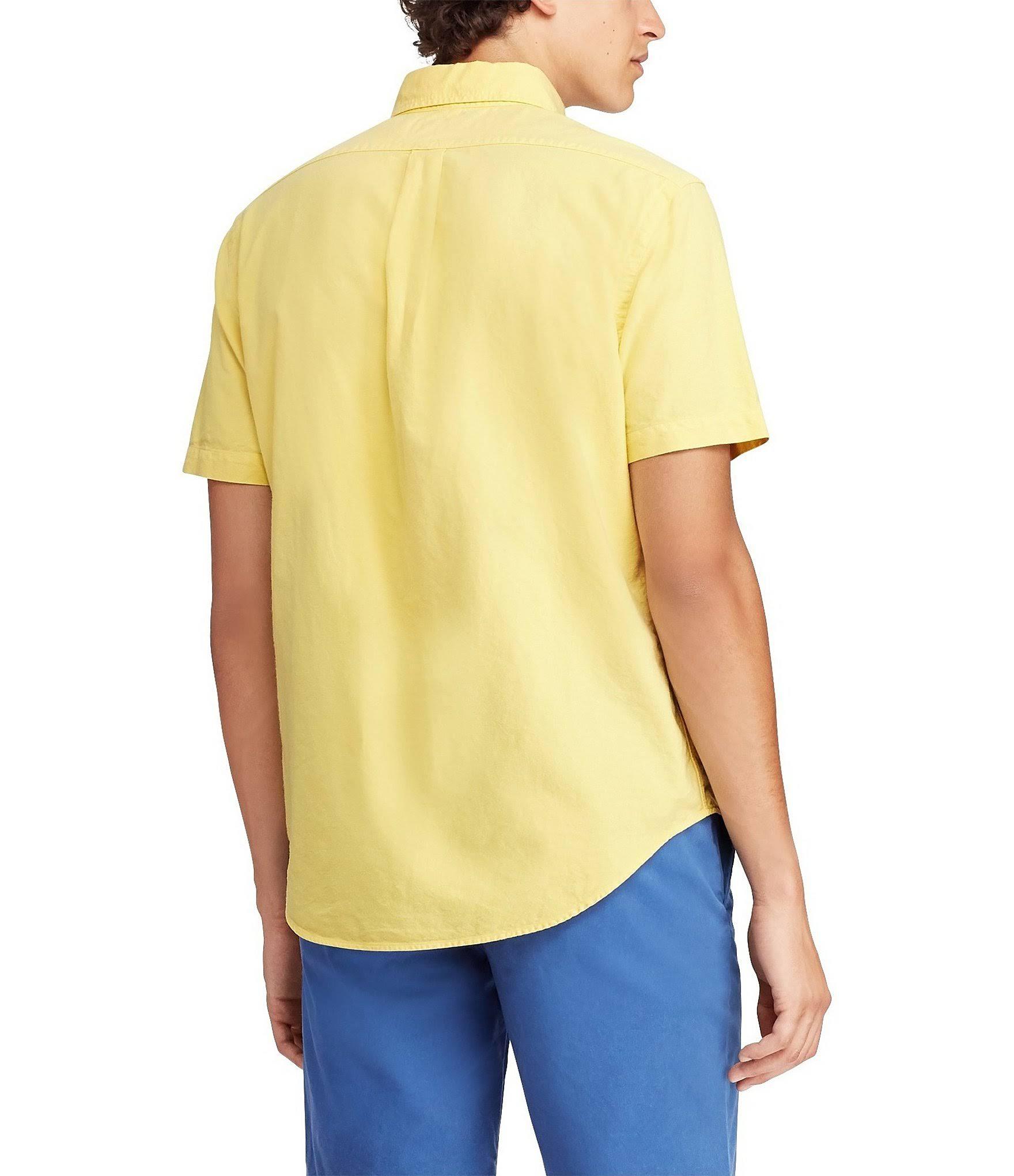 Polo Gelb hemd Herren L Für Ralph Oxford Lauren Klassisches rw0TxprqZS