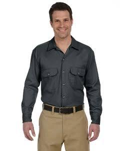 574 Camisa Manga S Dickies Regular Blanco Larga Trabajo De E1qXr1