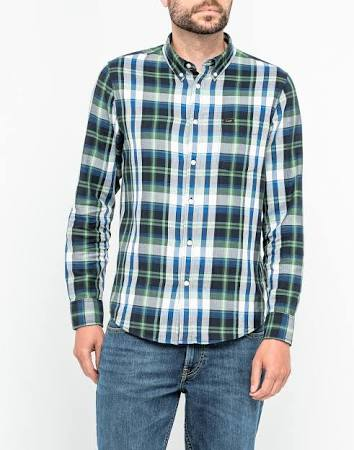 Shirt Herren Navy Button M Nachthimmel Down Lee Maßnahme wFOqH6x