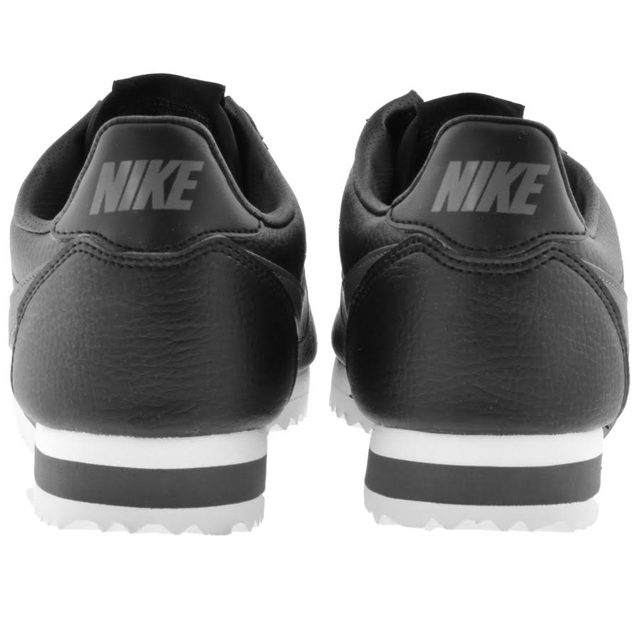 10 dark Leather Shoe Size Classic Grey black Cortez white Nike Black w7qzXnBWSS