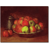 """Still Life with Fruit, 1871-72"" by Gustave Courbet Painting Print on Canvas Trademark Fine Art Size: 18"" H x 24"" W x 2"" D"