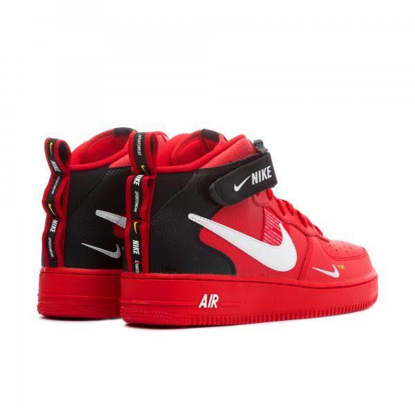605 Lv8 804609 '07 1 Air Force Nike Mid Schwarz Xwx0qB4ag