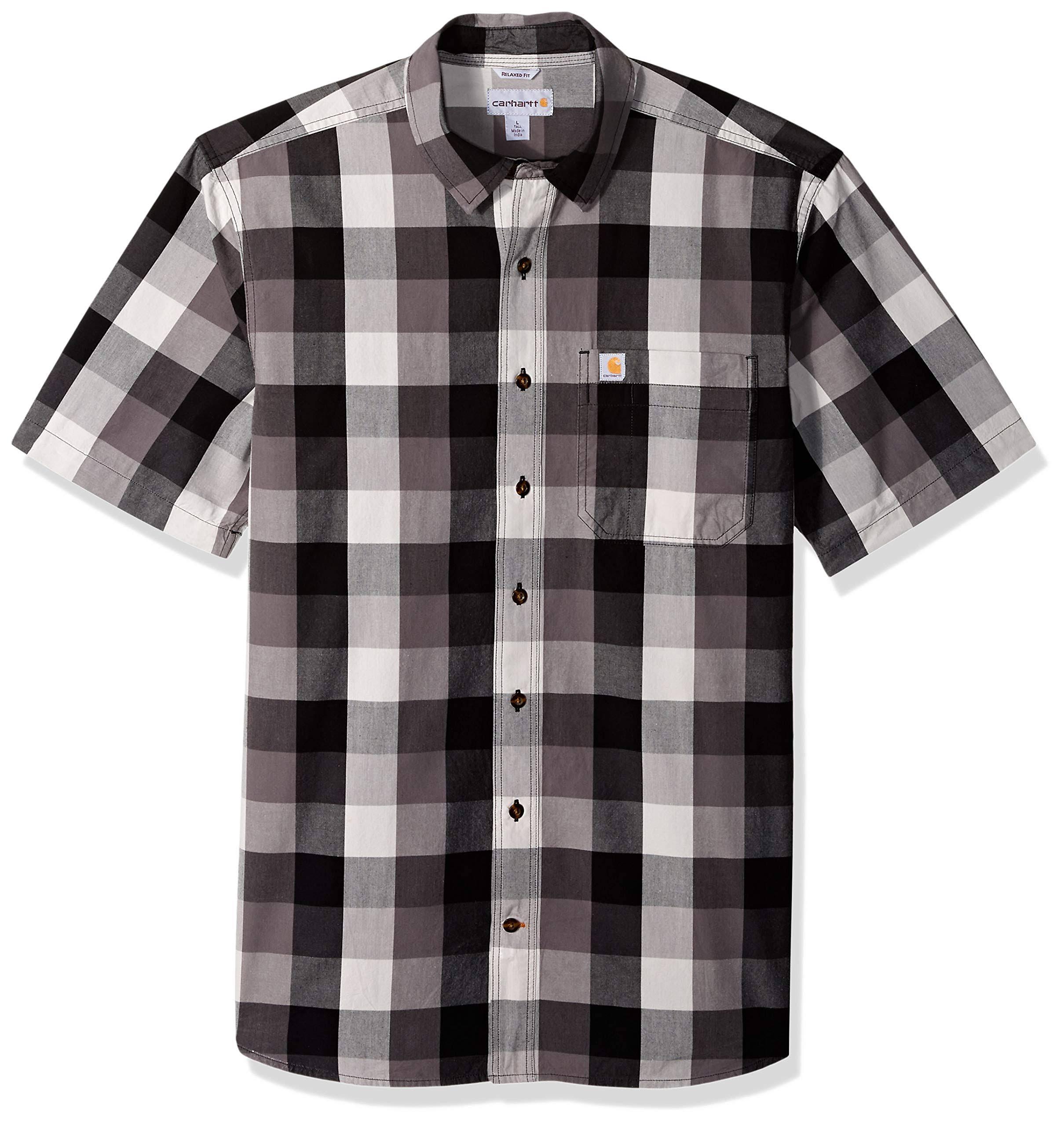 Manga Plaid Camisa Cuello Abierto Regular Para Hombre Carhartt Con Essential Corta De RqR5wO70