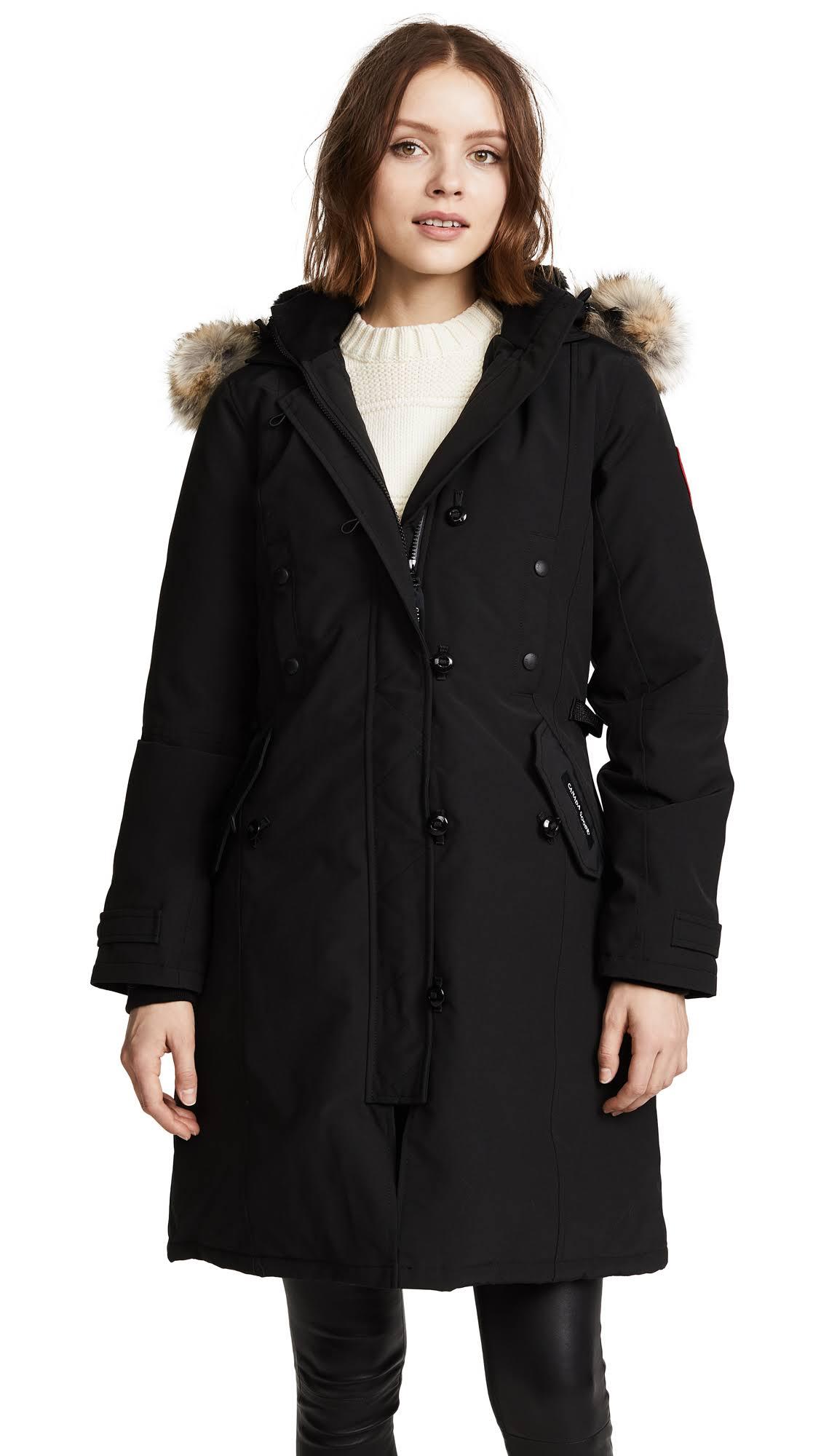 Para Mujer Kensington Slim Fit Canada Negro Goose Parka 177tfnIa