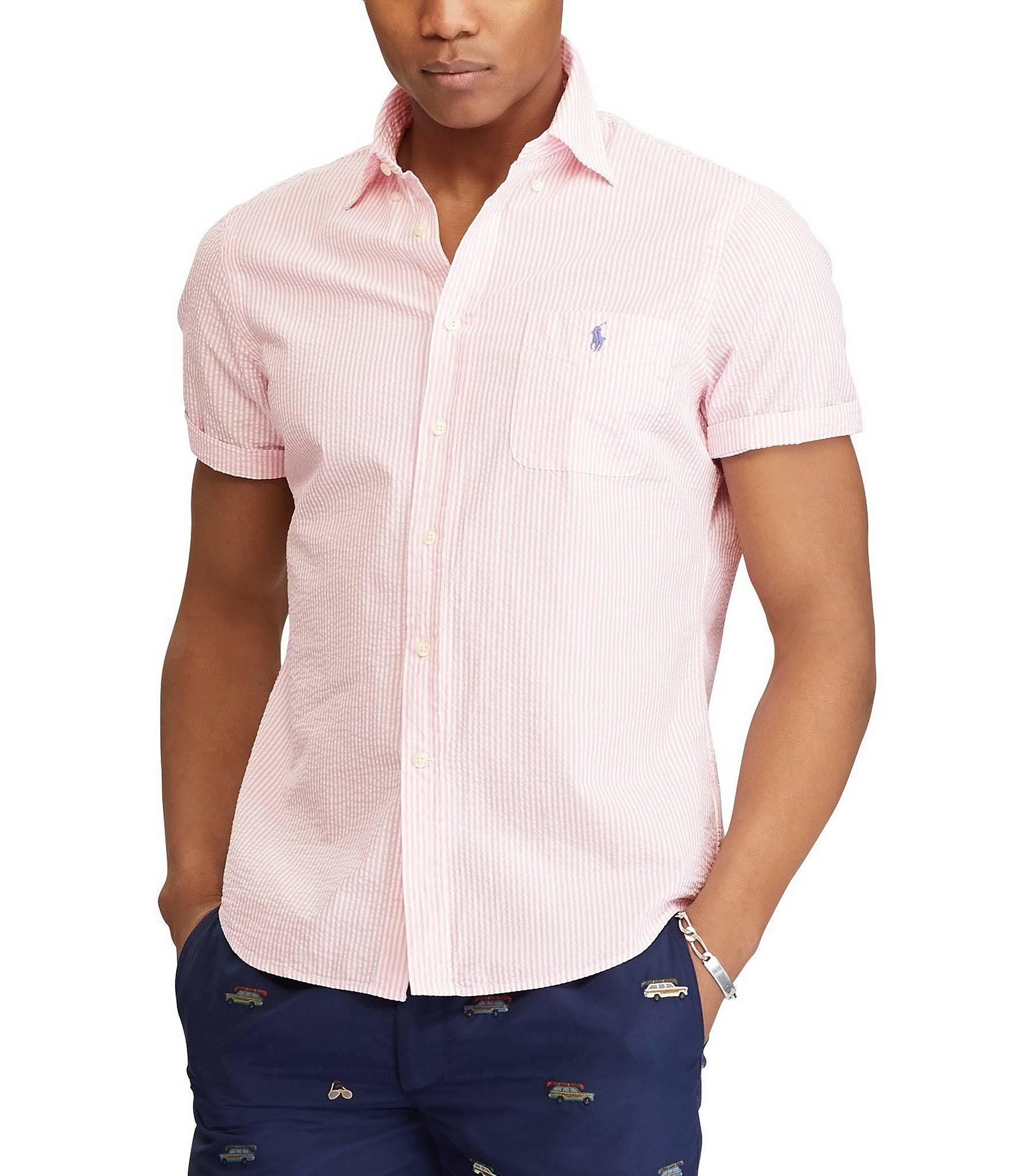 De Hombre Corte Camiseta Ralph Xl Color Clásico Para Deporte Lauren Rosa Polo wp4Ft