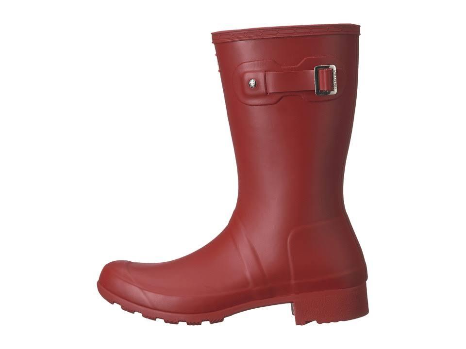 Hunter Original rossa9 Tour Boot Medium Short Military Red in gomma OkXPZiuT